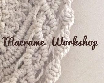 Beginners Macrame Workshop, 2nd June, Colwyn Bay, Wales
