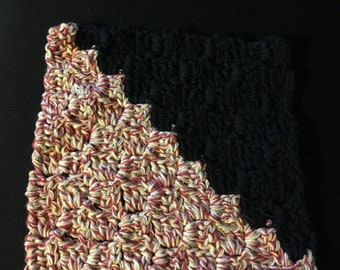 Hampton Twist&Black Dishcloth,Crochet Dishcloth,Handmade,Crochet DishRag,Handmade 100% Cotton,EcoFriendly,Cotton Dishcloths,Reusable,Durable