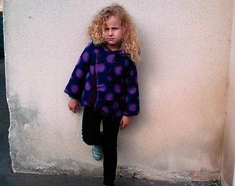 Winter coat girl organic cotton fleece