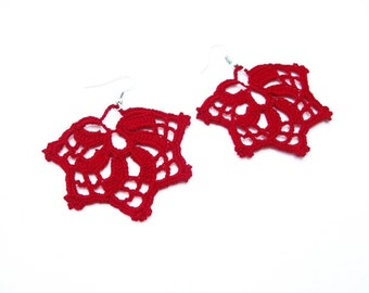 PDF Tutorial Crochet Pattern...Lace Dangle Earrings -7