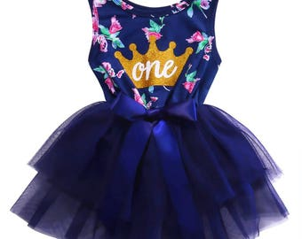 Free shipping to US and PR,Birthday One,First year,One birthday dress,Toddler birthday outfit,Princess outfit,Birthday clothing,1st birthday