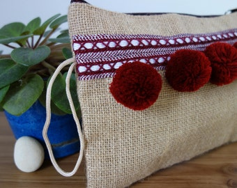 Beldi pouch with tassels