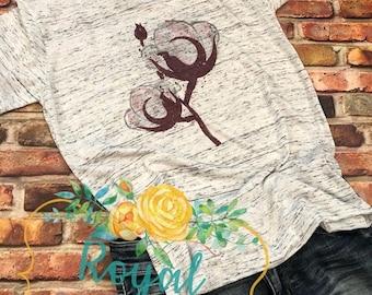ON SALE Southern Cotton Shirt, WaterColor Cotton shirt, Cotton Tank Top,