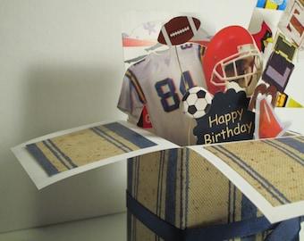 Fait à la main Exploding boîte Pop Up variations de carte d'anniversaire -4--un masculin d'un genre livraison gratuite aux Etats-Unis