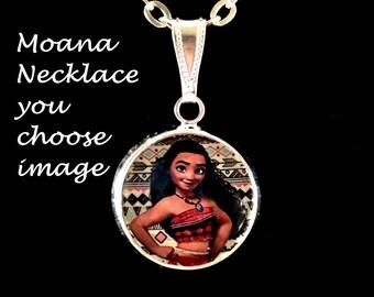 Moana Necklace,you choose image,moana necklace,moana charms,moana charm necklace,moana jewelry,princess moana,princess moana,moana
