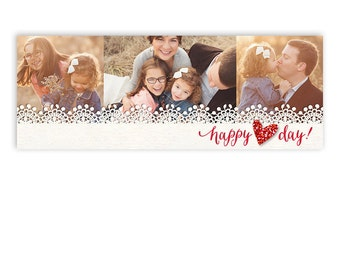 Valentine's Day Facebook Timeline Cover Template - Happy Heart - 1231