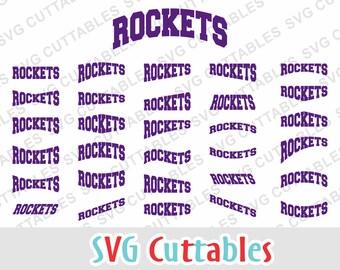 Rockets svg, rockets layouts, svg, eps, dxf, rockets mascot, rockets cut file, svg cuttables, silhouette file, cricut cut file, digital file