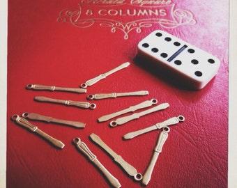 brass screwdriver charm tool - 10 pieces