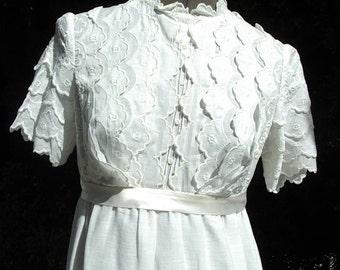 Reduced Edwardian Style Young Ladies Gown/Dress Graduation/ Party Designer Original Size: 6 Item # 185 Victorian/Edwardian