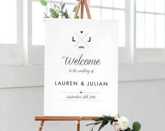 Printable Wedding Signs Welcome - Welcome Sign - Wedding Signage - Welcome Sign Wedding - Welcome Sign for Wedding PDF - (Item code: P040)