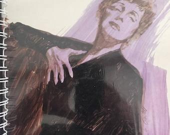 for Edith Piaf -  Little Sparrow / La Vie En Rose  fan / vinyl Album Cover Notebook