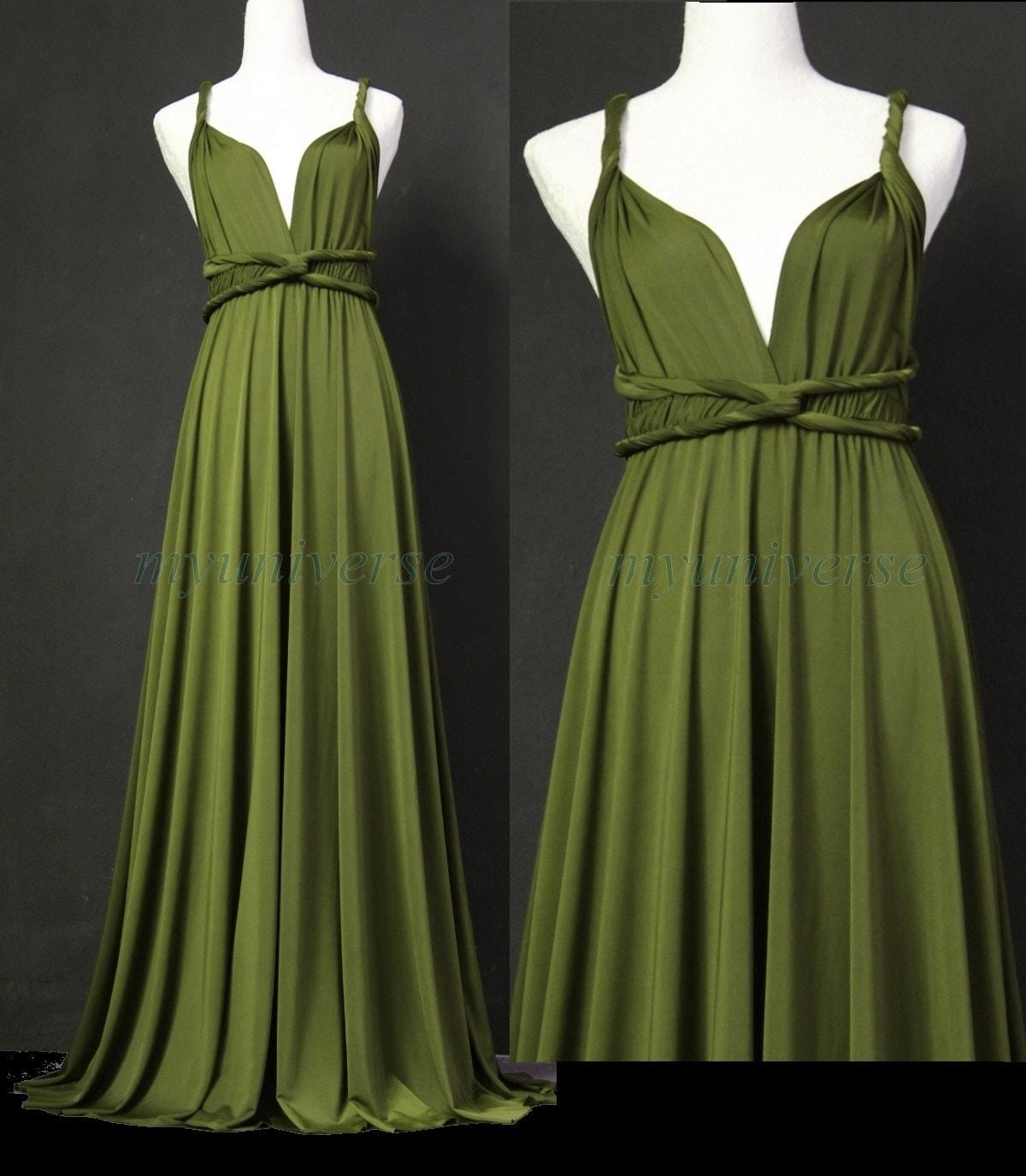 Sage Bridesmaid Dress Olive Green Infinity Dress Wrap