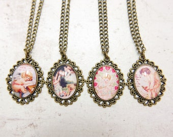 Angle Necklace,  Angle jewelry, 1825C