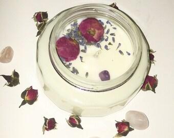 Vanilla sugar soy wax Amethyst candle