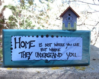 wall sign - hand painted - home -
