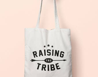 Raising The Tribe Tote Bag Long Handles TB00559