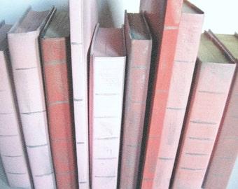 Pink Wedding Books, Wedding Book Decor,  Pink Nursery Books, Beach Wedding, Pink Baby Books, Pink Book Stack, Wedding Shower Decor, Pink