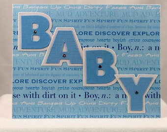 New Baby Boy Greeting Card/Baby Shower/Congratulations/Birth of Baby