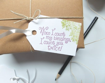 Gift Tags -Favor Tags -Wedding Tags -Thank You Tags -Blessing Gift Tag -Tags for Handmade Items - Birthday Gift Tags -Packaging Tags
