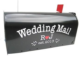 Benutzerdefinierte Hochzeit Karte Postfach Vinyl-Schriftzug - personalisieren Sie Ihre eigene Hochzeit Karte Box