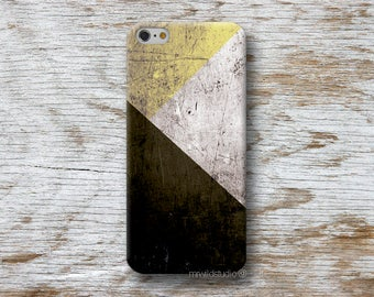 Yellow Geometric Phone Case for iPhone 4 4s 5 5s SE 5C 6 6S 7 8 PLUS X iPod Touch 5 6 Oneplus 2 3 5 1+2 1+3 1+5