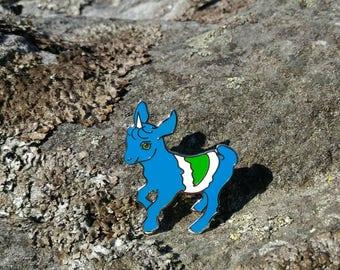 Vegan Kid Inspired by Vegan Flag - Unicorn Herbivore - Goat Kid Go Veg - Hard Enamel Pin - Badge Brooch - Lapel Pin - Hat Pin - Backpack Pin