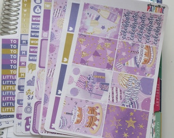 KIT Birthday Wishes Full Deluxe Kit Sized to Fit Erin Condren Life Planner Planner Stickers