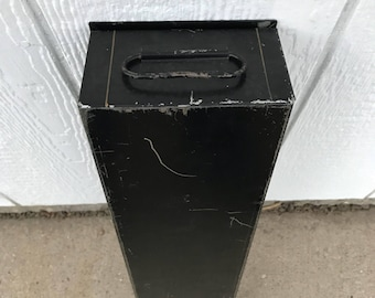 Vintage Bank Safe Deposit Box Black