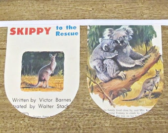 Skippy The Kangaroo Birthday Bunting - Australiana Nursery Banner Garland - Baby Shower Australia Animals Wildlife Party Supplies