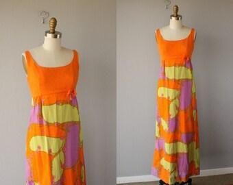 Vintage Maxi Dress | 60s Dress | 1960s Maxi Dress | Lanz Originals Dress