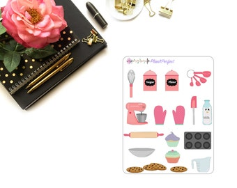 Baking Stickers/Baking Set Stickers/Baking Set. Perfect for your planning and scrapbooking needs!