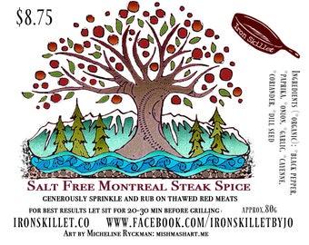 Salt Free Montreal Steak Spice - Sans Sel Steak Seasoning - Meat Rub - Steak Rub