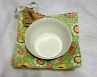 Microwave Bowl Cozy Quilted Floral Insulated