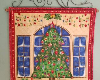 Blue Christmas Advent Calendar/Countdown to Christmas Wall Hanging
