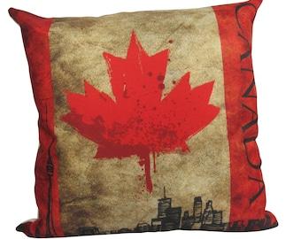 Canada Flag | Pillow Cover | Canadian Pillow | Toronto | Throw Pillow | Home Decor | Pillow | Rustic Home Decor | Patriotic Pillow | Gift
