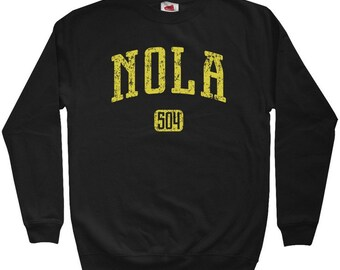 NOLA 504 Sweatshirt - New Orleans - Men S M L XL 2x 3x - Crewneck New Orleans Shirt - 4 Colors