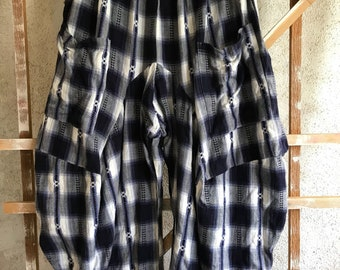Extra large flannel lagenlook pant