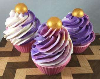 Handmade Cold Process Soap Cupcake (various scents)