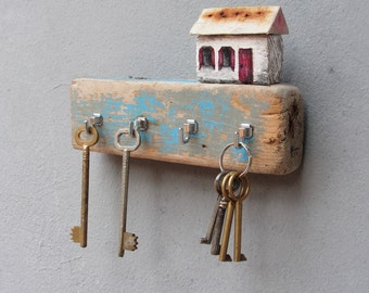 Red metal key hooks Etsy NZ