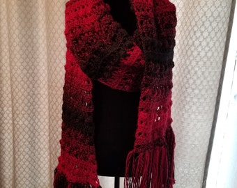Extra long ombre scarf/wrap