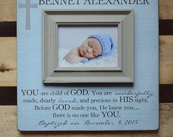 Baptism Gift, Baptism Gifts From Godparents, Baptism Gifts For Godchild, Baptism Gifts For Godparents, Godson, Godchild, Baptism Frame 16x16