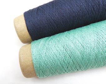 Silk Stainless Steel Yarn / Silk Yarn / Steel Fiber / Lace Weight Yarn / Textile Art Material / Steel Thread/  Knitting / Crochet / Habu A20