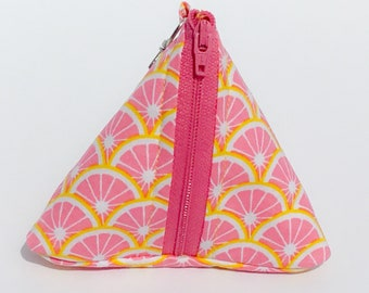 Pink Lemonade Triangle Coin Purse