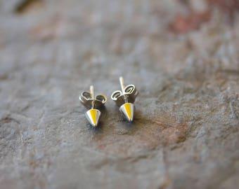 Sterling Silver Arrow Head/Spike Post Earring