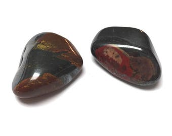 Tumbled Mugglestone. Red. Brown. Tumbled Stone. Gemstone. Altar Stone. Reiki. Wicca Stone. Matrix Stone. Undrilled. 30mm - 32mm. One (1)