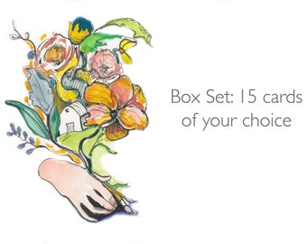 Set of 15 Inspiring Women Greeting cards, 5x7 card, Your choice, Inspiring Quotes