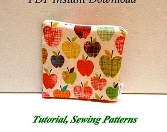 Waterproof Snack Bags - Tutorial - DIY Snack Bag - Wet Bags - PDF Instant Download - Sew Your Own