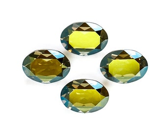 14x10mm IRIDESCENT GREEN Swarovski Oval Fancy Stones Article 4120