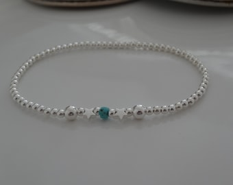 summer stretch anklet by charmed sterling silver star design all sizes