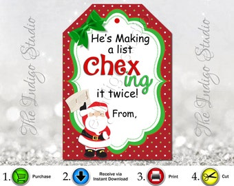 Chex Mix treat Tag Chexing it twice Digital Printable Pertfect for Neighbor, Teacher or family gift!